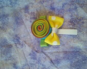 lollipop hair clippie