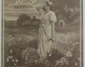 """Vintage 1915 Sheet Music """"Love's Victory"""" Waltzes by R. C. Harwood"""