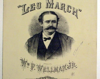 """Antique Sheet Music """"Leo March"""" Dated 1872"""