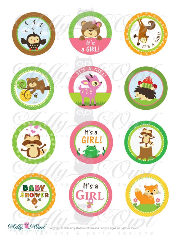 Items Similar To Girl Woodland Forest Animals Baby Shower