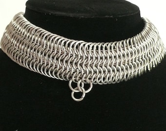 Stainless Steel Chain Maille Collar/Choker/Necklace/Costume