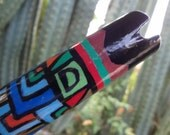 Quenacho/Quena in D (Hand painted flute, handmade, unique) . Zapata
