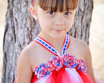 4th of July tutu dress (Sizes 5-10)