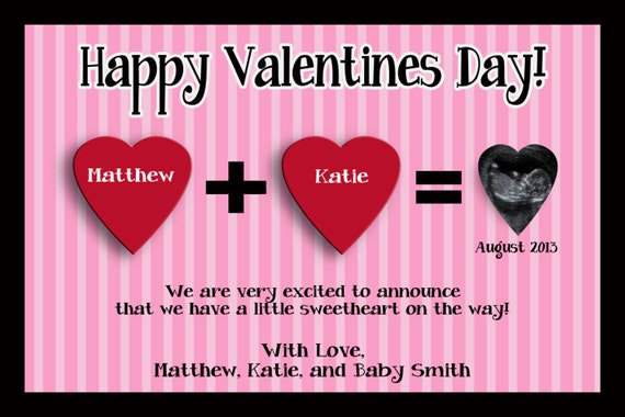 valentines day announcement card idea babycenter