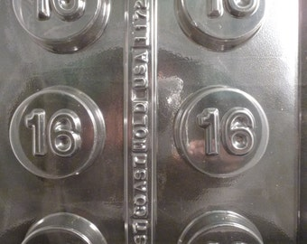 Number 16  Chocolate Covered sandwich Cookie Mold