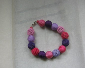 Colourfull purple/pink bracelet