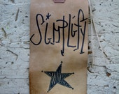 Rustic Hang Tags simplify Folk art star Gift Tag Craft supply Primitive paper craft set 25 tags