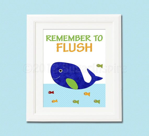 Bathroom decor for boys 8x10 whale green and blue remember for Bathroom ideas 8x10