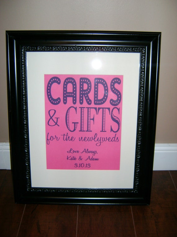 Wedding Gift Table Sign Ideas : Items similar to Wedding Gift Table Sign on Etsy