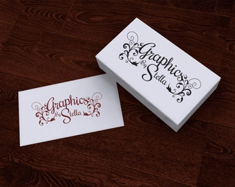 Premade Customized Logo Flourish for any business Tattoo Vintage Stamp Style