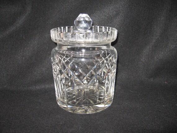 Waterford Crystal Biscuit Jar With Lid 4 5 Diameter X