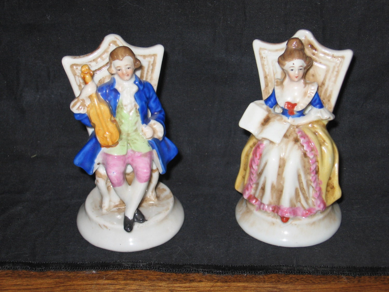 Vintage Figurines Made In Occupied Japan Music Violin