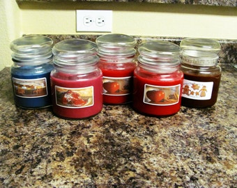 16 oz Handmade Highly Scented Soy Candles