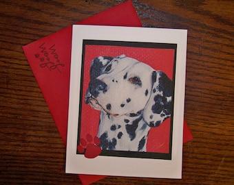 Dalmation Single Card, Artwork from Original Art