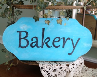 Bakery Sign, Vintage Inspired Bakery Sign, Handpainted Bakery Sign in Custom Colors