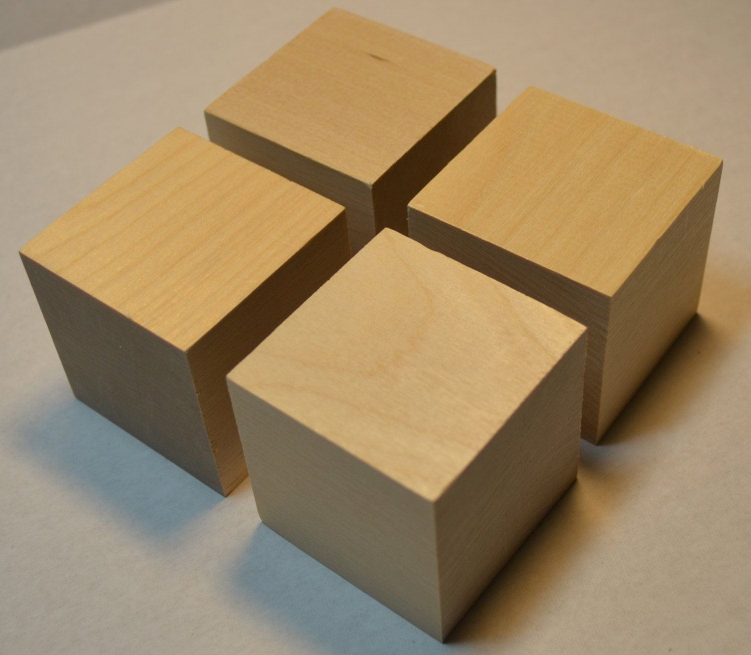 2 solid wood blocks set of 4 unfinished wooden for Where to buy wood blocks for crafts