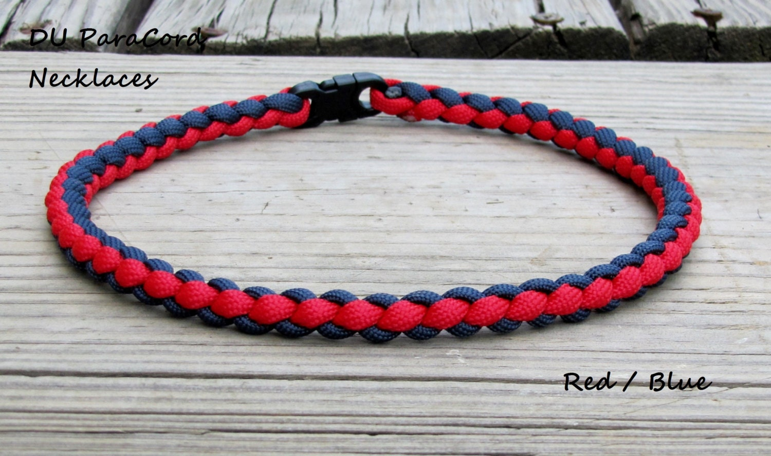 braided paracord sports necklace or bracelet