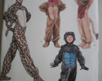 Simplicity 2855 Childs, Boys and Girls Animal Costumes