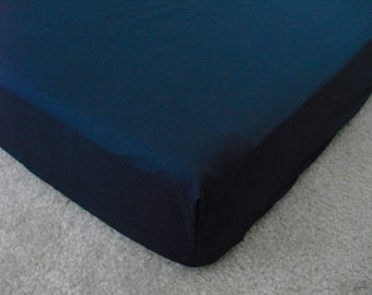 Navy Blue Crib Sheet