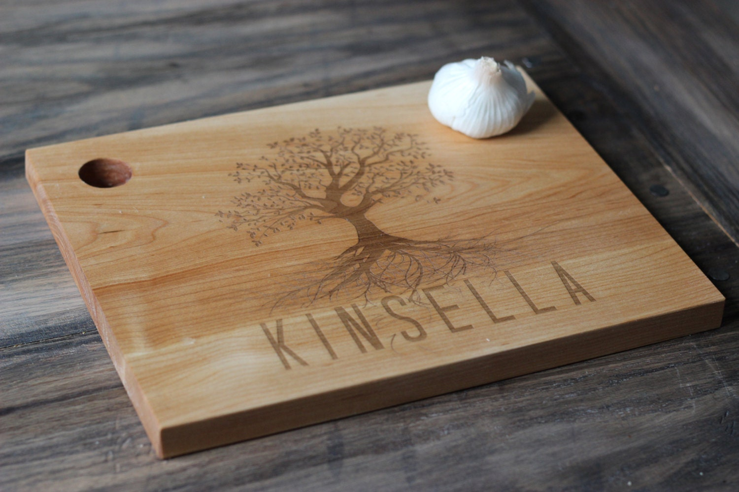 custom engraved wood cutting boards unique design with tree. Black Bedroom Furniture Sets. Home Design Ideas
