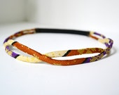 Boho Headband // Helix Headband // Multicolored // Purple // Pale Yellow // Burnt Orange // Triangle Theory - TriangleTheory