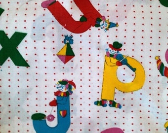 Cute and fun Children's  fabric. Unused. Nice colours