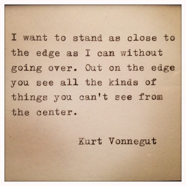 Quotes About Love Kurt Vonnegut : Kurt Vonnegut Quote Made On Typewriter