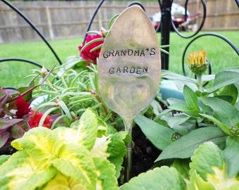 Grandma's Garden- Vintage Spoon Garden Marker