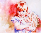 Custom Watercolor Portrait - Commissioned Professional Original Watercolor Painting - Family Portrait - Child Portrait - Adult Portrait