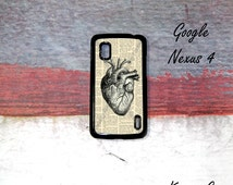Google Nexus 5 Case, BlackBerry Z10 case,  Anatomy Heart with book art BlackBerry Z10 Case,  Google Nexus 5 Case