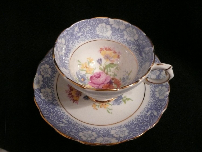 Antique China Tea Cup And Saucer Set Rosina England Tea Set