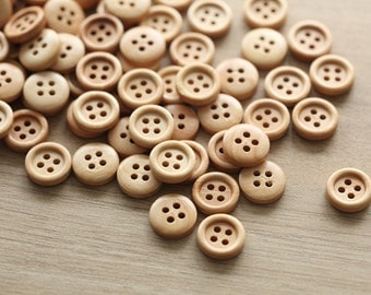 25 pcs of wooden buttons , 12mm