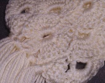 Ivory Scarf with Fringe