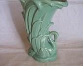 McCoy Sea Foam Green Swan Vase