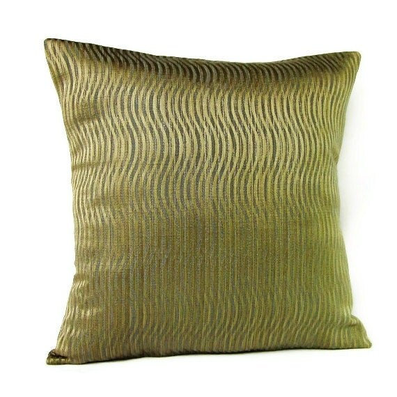 Sale Gold Stripe Pillow Cover Decorative Throw Accent Toss