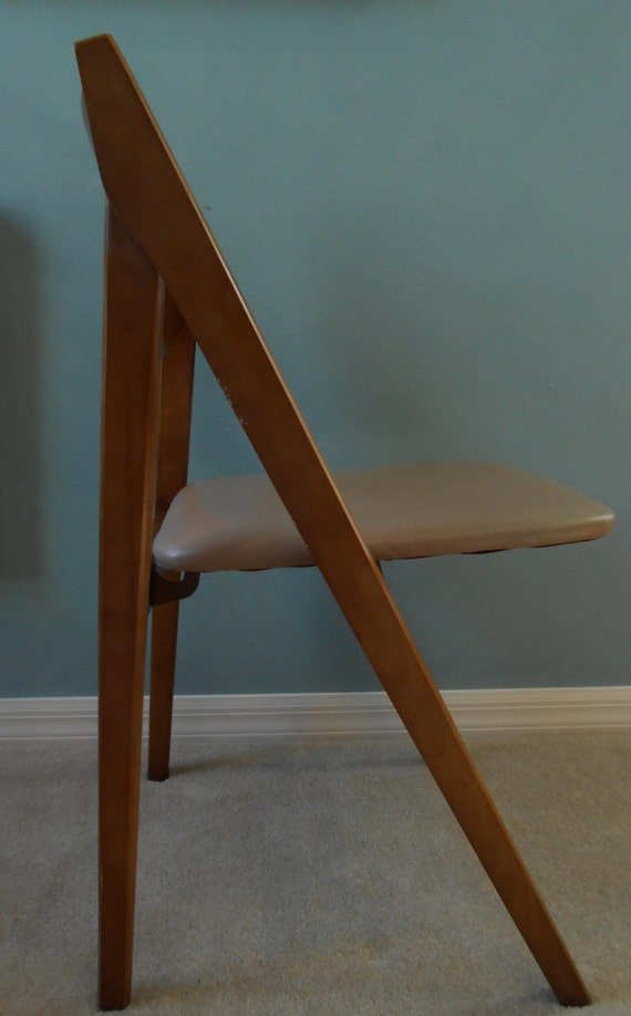 Mid Century Stakmore Folding Chair Four 4 Available