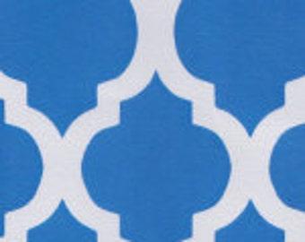 HALF YARD Turquoise Quatrefoil Fabric Finders Cotton Fabric