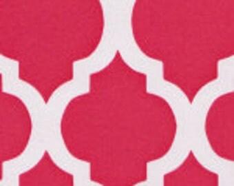 HALF YARD Raspberry Quatrefoil Fabric Finders Cotton Fabric