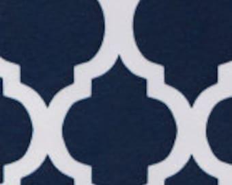 HALF YARD Navy Quatrefoil Fabric Finders Cotton Fabric