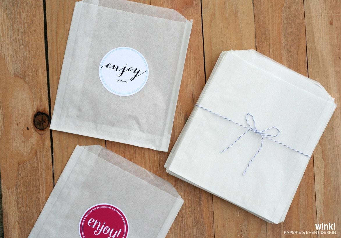 300 Treat Bags Favor Bags White Paper Bags Glassine Bags