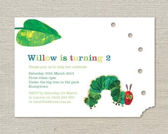 The Hungry Caterpillar Birthday Invitations