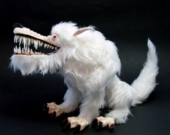 """Rigged Stop-Motion Animation Puppet/Figure """"The White Wolf"""" - Made to Order"""