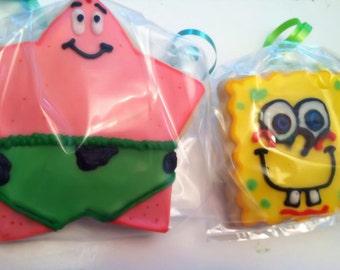 Sponge Bob And Patrick Cookies