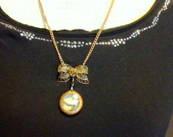 Mouse taxidermy mandible locket pendant necklace