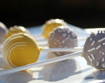 Gray & Yellow Signature Cake Pops