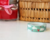 clouds and hearts washi tape, perfect for your projects