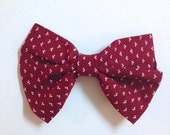 Vintage Red Bow, Red Bow Tie, Red Hair Bow, Bow Tie, Hair Bow, Hair Accessories, Red, Cream, Vintage, Vintage Red, Rustic, Wedding Party
