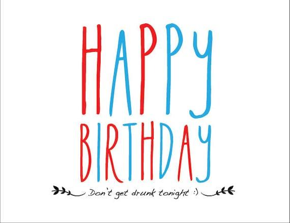 Items similar to Happy Birthday Card 55 in x 425 in – Birthday Card Pdf
