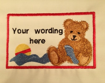 Embroidered quilt Label to finish your work of art.