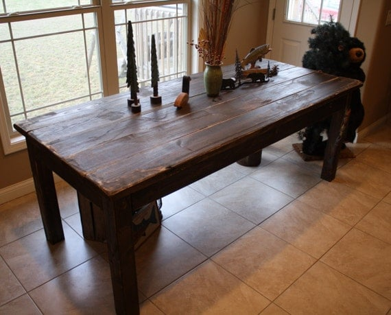 Beautiful Fishing Lake CABIN Dark Walnut Stained Primitive
